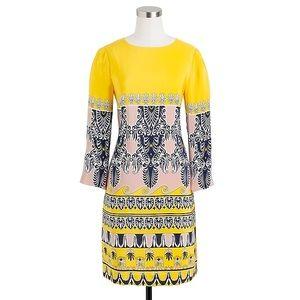 J Crew Factory Printed 3/4 sleeve gallery dress